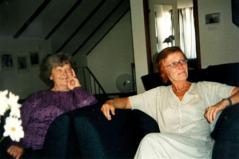 Baltijos rašytojų ir vertėjų centre Visbyje su Gunilla Forsén. Apie 2000 m.