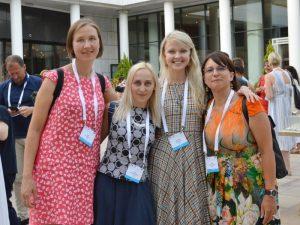 Iš kairės: Lina Bimbirytė, Eglė Baliutavičiūtė, Viktorija Pukėnaitė, Inga Mitunevičiūtė