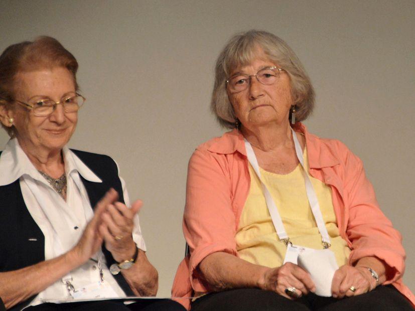 Iš kairės: Loty Petrovits ir Katherine Paterson