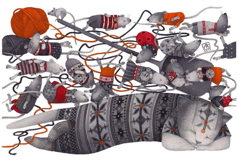 """Regina Lukk-Toompere. Setų pasakos """"Uogų kekė"""" iliustr. (2015)"""