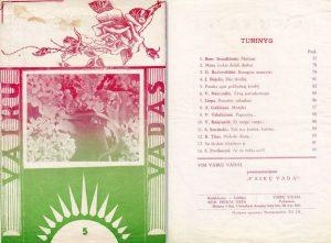 """Vyžuonose dėdės leistas Vaikų vadas, kuriame išspausdintas S. Sondeckio kūrinys  """"Ech tos kortos, kortos..."""" (1939 m. Nr. 5)"""