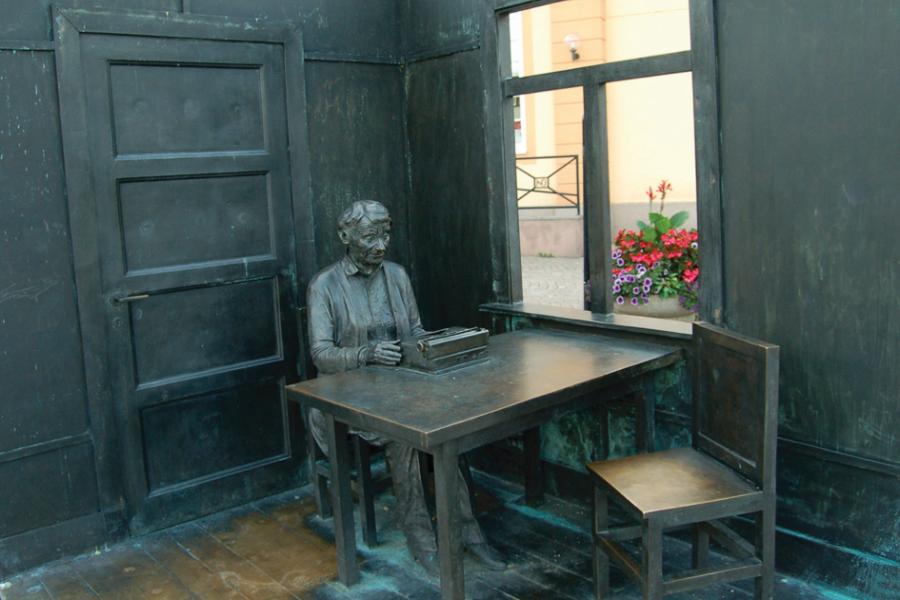 A. Lindgren paminklas Vimerbyje