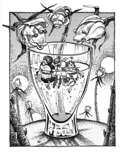 """""""Kelionė į Tandadriką"""". Gintaro Jociaus iliustr."""