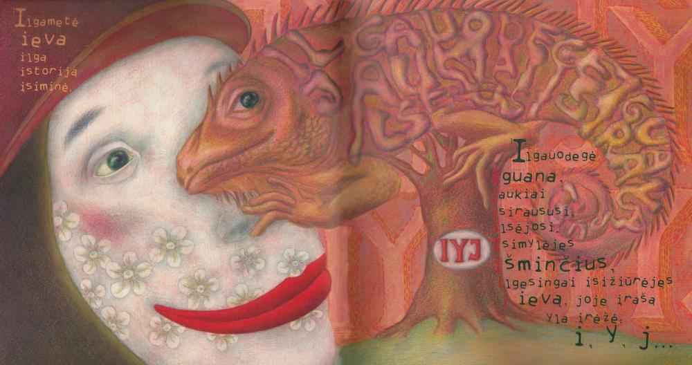 """""""Čiauškančios raidės"""". Ievos Babilaitės iliustr."""