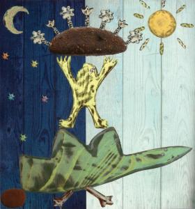 """""""Drakonas ir upė""""; """"Seno smuikininko dainelės"""". Mariaus Jonučio iliustr."""