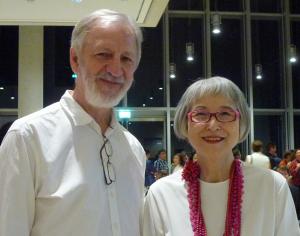 H. Ch. Anderseno premijos laureatai Igoris Oleinikovas ir Eiko Kadono Atėnuose, XXXVI IBBY kongrese