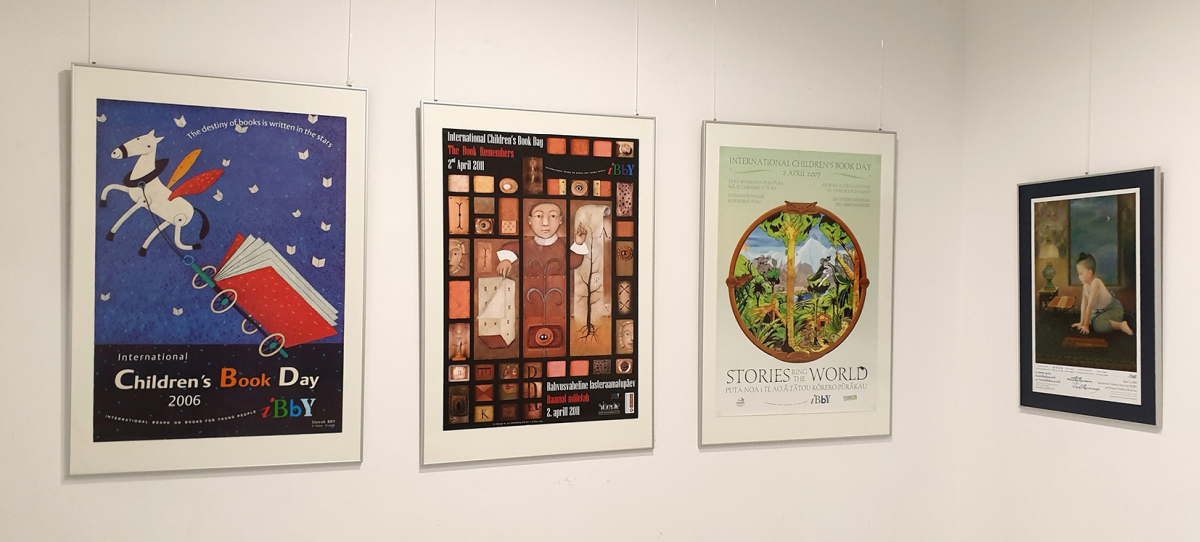 Plakatų parodos fragmentas