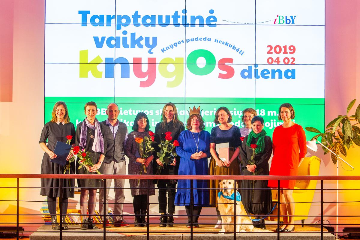 2019 m. apdovanojimų laureatai. IBBY Lietuvos skyriaus archyvo nuotr.