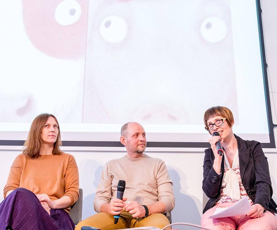Iš kairės: Lina Dūdaitė, Marius Marcinkevičius ir Eglė Gudonytė. Vygaudo Juozaičio nuotr.
