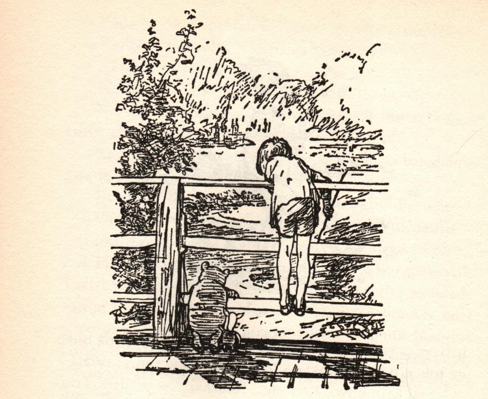 """Ernesto H. Šepardo iliustr. iš knygos """"Pūkuotuko pasaulis"""", 2004"""
