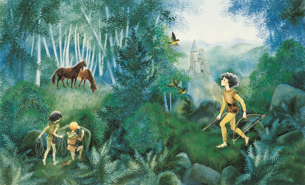 "A. Lindgren knygos ""Ronja plėšiko duktė"" viršelis ©Design Ilon Wikland"
