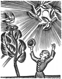 """M. Sluckis """"Aš vėl matau vėliavą"""" (1966 m.). K. Juodikaičio iliustr."""