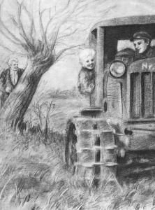 """M. Sluckis """"Būsimasis kapitonas"""" (1950 m.). B. Mingėlaitės iliustr."""