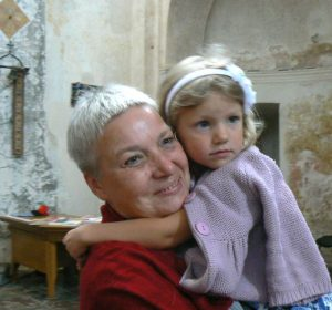 Su vyriausiąja anūke Bernardinų bažnyčioje. 2012 m.