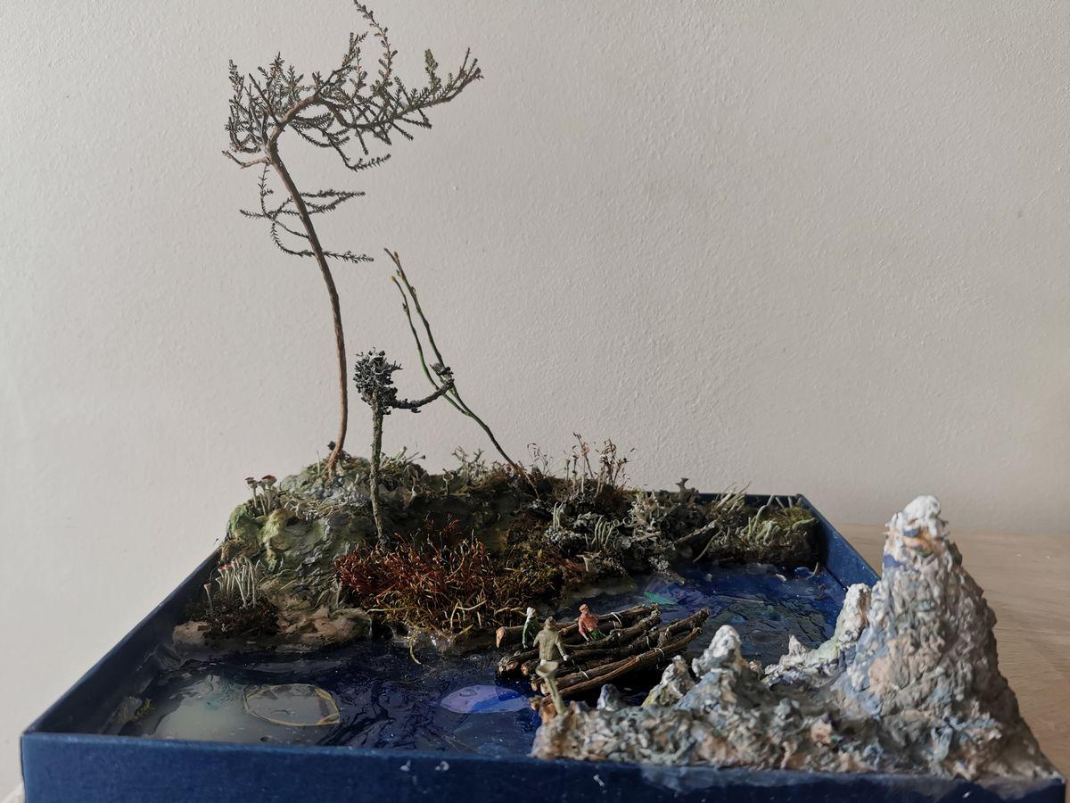 """Džiugo sukurta diorama pagal Jules'io Verne'o knygą """"Kelionė į Žemės centrą"""""""