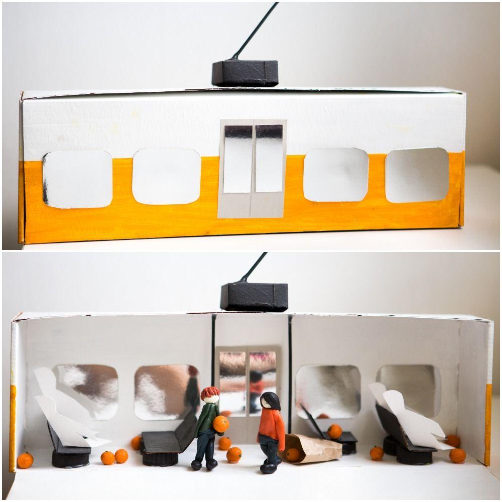 """Rusnės sukurta diorama pagal Josteino Gaarderio knygą """"Mergaitė su apelsinais"""""""