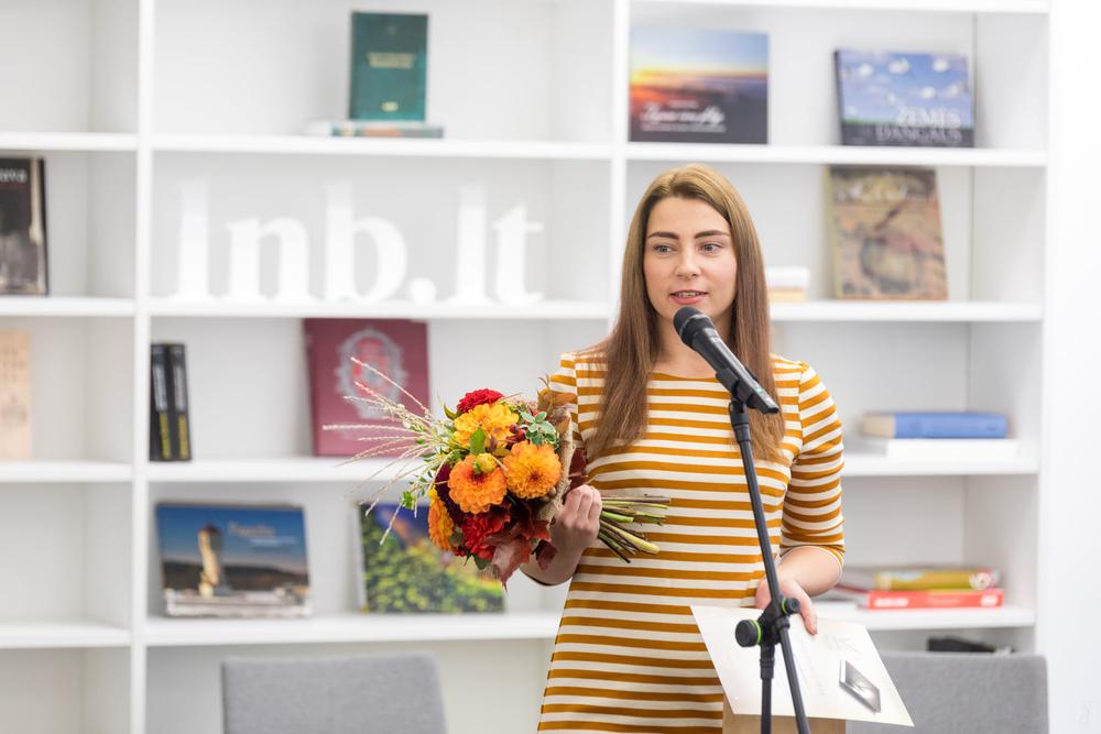 Paauglių ir jaunimo literatūros konkurso laimėtoja Agnesa Kenešytė-Gricė. Nuotr. Vygaudo Juozaičio